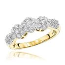14K Gold Diamond Cluster Ring for Women Past Prese