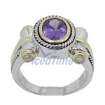 Ladies .925 Italian Sterling Silver Purp 73953 2