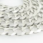 Mens White-Gold Cuban Link Chain Length  79008 2