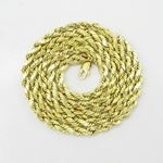 Mens 10k Yellow Gold HOLLOW Chain Elnc9 22
