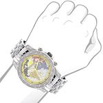 World Map Mens Diamond Watch 0.50Ct Limited Edit-3