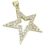 Mens 10k Yellow gold Outer star of david 77829 1