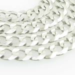 Mens White-Gold Cuban Link Chain Length  79001 2