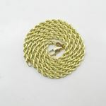 "Mens 10k Yellow Gold skinny rope chain ELNC8 18"" l"