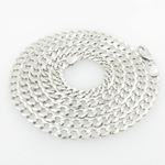 Mens White-Gold Cuban Link Chain Length  79035 1