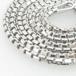 Ladies .925 Italian Sterling Silver Box Link Chain