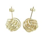 Ladies 10K Solid Yellow Gold love knot earrings 2
