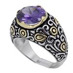 Ladies .925 Italian Sterling Silver Purp 73916 1