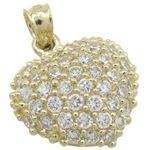 Womens 10k Yellow gold Multiple stone cz heart gol