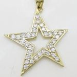 Mens 10k Yellow gold Outer star of david 77831 3