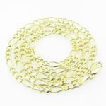 Mens Yellow-Gold Figaro Link Chain Lengt 79157 1