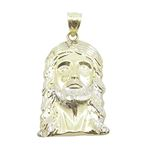 Mens 10K Solid Yellow Gold jesus head pe 77106 1