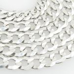 Mens White-Gold Cuban Link Chain Length  79036 2