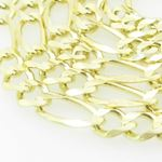 Mens Yellow-Gold Figaro Link Chain Lengt 79207 2