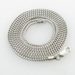 Mens White-Gold Franco Link Chain Length - 22 inch