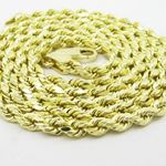Mens 10k Yellow Gold rope chain ELNC29 2 77888 2