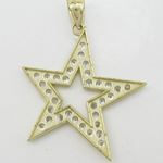 Mens 10k Yellow gold Outer star of david 77832 4