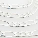 Silver Figaro link chain Necklace BDC61 79591 2
