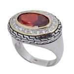 Ladies .925 Italian Sterling Silver Ruby 74175 1