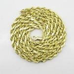 Mens 10k Yellow Gold rope chain ELNC21 2 77877 3