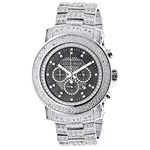 Oversized Iced Out Mens Diamond Watch 2Ctw Of Diam