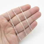 Silver Figaro link chain Necklace BDC74 79636 4