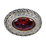 Ladies .925 Italian Sterling Silver Ruby 74177 3