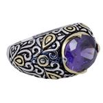 Ladies .925 Italian Sterling Silver Purp 73919 4