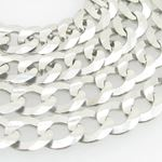 Mens White-Gold Cuban Link Chain Length - 24 inche