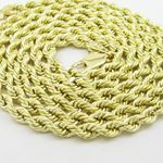 Mens 10k Yellow Gold hollow rope chain ELNC17 24""