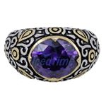 Ladies .925 Italian Sterling Silver Purp 73918 3