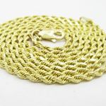 "Mens 10k Yellow Gold skinny rope chain ELNC6 24"" l"