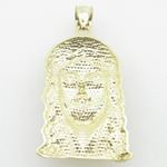 Mens 10K Solid Yellow Gold jesus head pe 77108 3