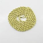 Mens 10k Yellow Gold Hollow Rope chain ELNC27 22""