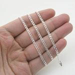 Silver Curb link chain Necklace BDC64