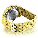 Mens Yellow Gold Tone Watch With Diamonds 0.50Ct-2