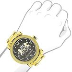 Phantom Mens Large Real Diamond Watch Ye 91028 3