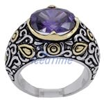 Ladies .925 Italian Sterling Silver Purp 73917 2