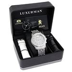 Iced Out Watches: Luxurman Mens Genuine  90959 4