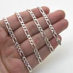 Silver Figaro link chain Necklace BDC97 79747 4