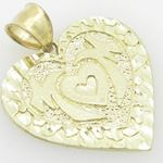 Ladies 10K Solid Yellow Gold mom pendant 87753 2