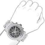 Oversized Iced Out Mens Diamond Watch 2Ctw Of Di-3