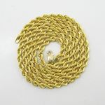 Mens 10k Yellow Gold rope chain ELNC14 2 77859 3