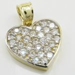 Womens 10k Yellow gold Multiple stone cz 83634 2