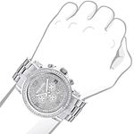 Large Iced Out Mens Chronograph Real Diamond Bez-3