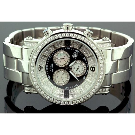 Aqua Master Diamond Mens Watch 3.60ct w1 55780 1