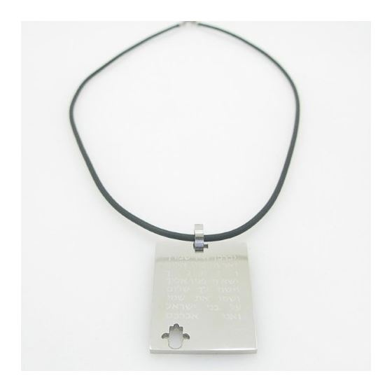 Unisex genuine leather braided crystal necklace pe