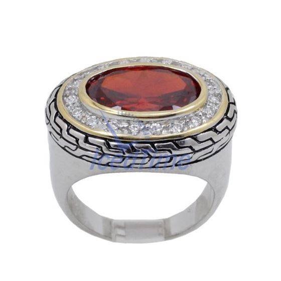 Ladies .925 Italian Sterling Silver Ruby 74176 2