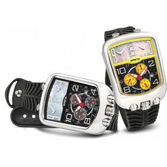 Invicta Chronozone Dakar Triple Time Zone Chronogr