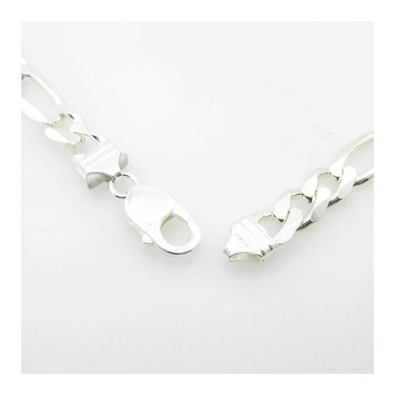 Silver Figaro link chain Necklace BDC76 79649 4
